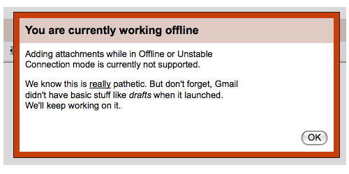 GMail Attachment Offline