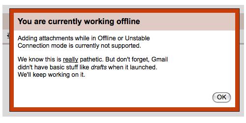 GMail Attachment Offline
